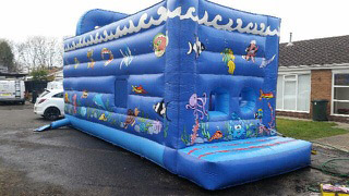 New Blue Bouncy Castle
