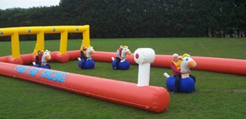 new inflatable horse race